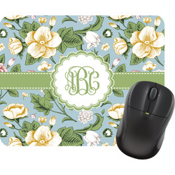 Vintage Floral Rectangular Mouse Pad (Personalized)
