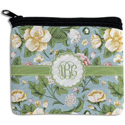 Vintage Floral Rectangular Coin Purse (Personalized)