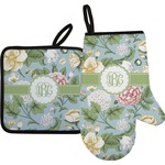 Vintage Floral Oven Mitt & Pot Holder (Personalized)
