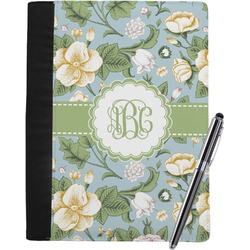 Vintage Floral Notebook Padfolio (Personalized)