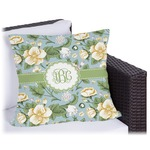 Vintage Floral Outdoor Pillow (Personalized)
