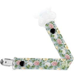 Vintage Floral Pacifier Clips (Personalized)