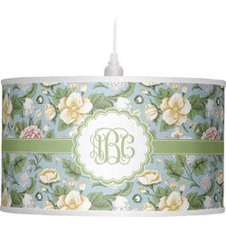 Vintage Floral Drum Pendant Lamp (Personalized)