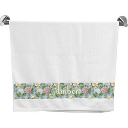Vintage Floral Bath Towel (Personalized)