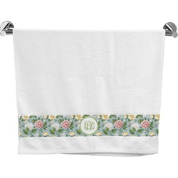 Vintage Floral Bath Towel (Personalized)