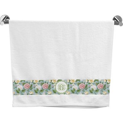 Vintage Floral Bath Towel Personalized Youcustomizeit