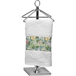 Vintage Floral Finger Tip Towel (Personalized)