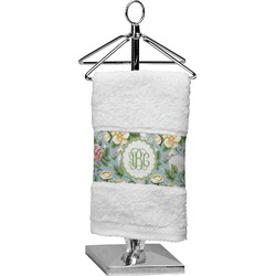 Vintage Floral Finger Tip Towel (Personalized)