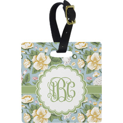 Vintage Floral Square Luggage Tag (Personalized)