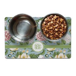 Vintage Floral Pet Bowl Mat (Personalized)