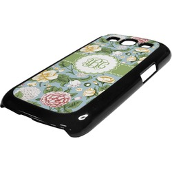 Vintage Floral Plastic Samsung Galaxy 3 Phone Case (Personalized)