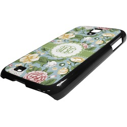 Vintage Floral Plastic Samsung Galaxy 4 Phone Case (Personalized)