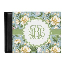 Vintage Floral Genuine Leather Guest Book (Personalized)