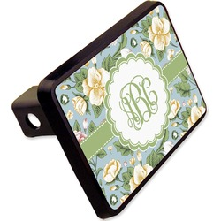 "Vintage Floral Rectangular Trailer Hitch Cover - 2"" (Personalized)"
