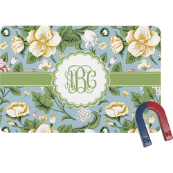 Vintage Floral Rectangular Fridge Magnet (Personalized)