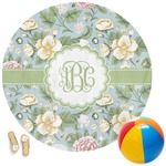 Vintage Floral Round Beach Towel (Personalized)