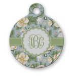 Vintage Floral Round Pet Tag (Personalized)