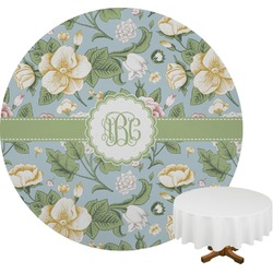 Vintage Floral Round Tablecloth (Personalized)