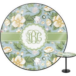 Vintage Floral Round Table (Personalized)