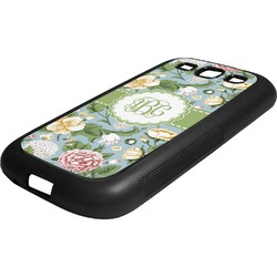 Vintage Floral Rubber Samsung Galaxy 3 Phone Case (Personalized)