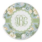 Vintage Floral Sandstone Car Coasters (Personalized)