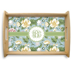 Vintage Floral Natural Wooden Tray (Personalized)