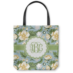 "Vintage Floral Canvas Tote Bag - Small - 13""x13"" (Personalized)"
