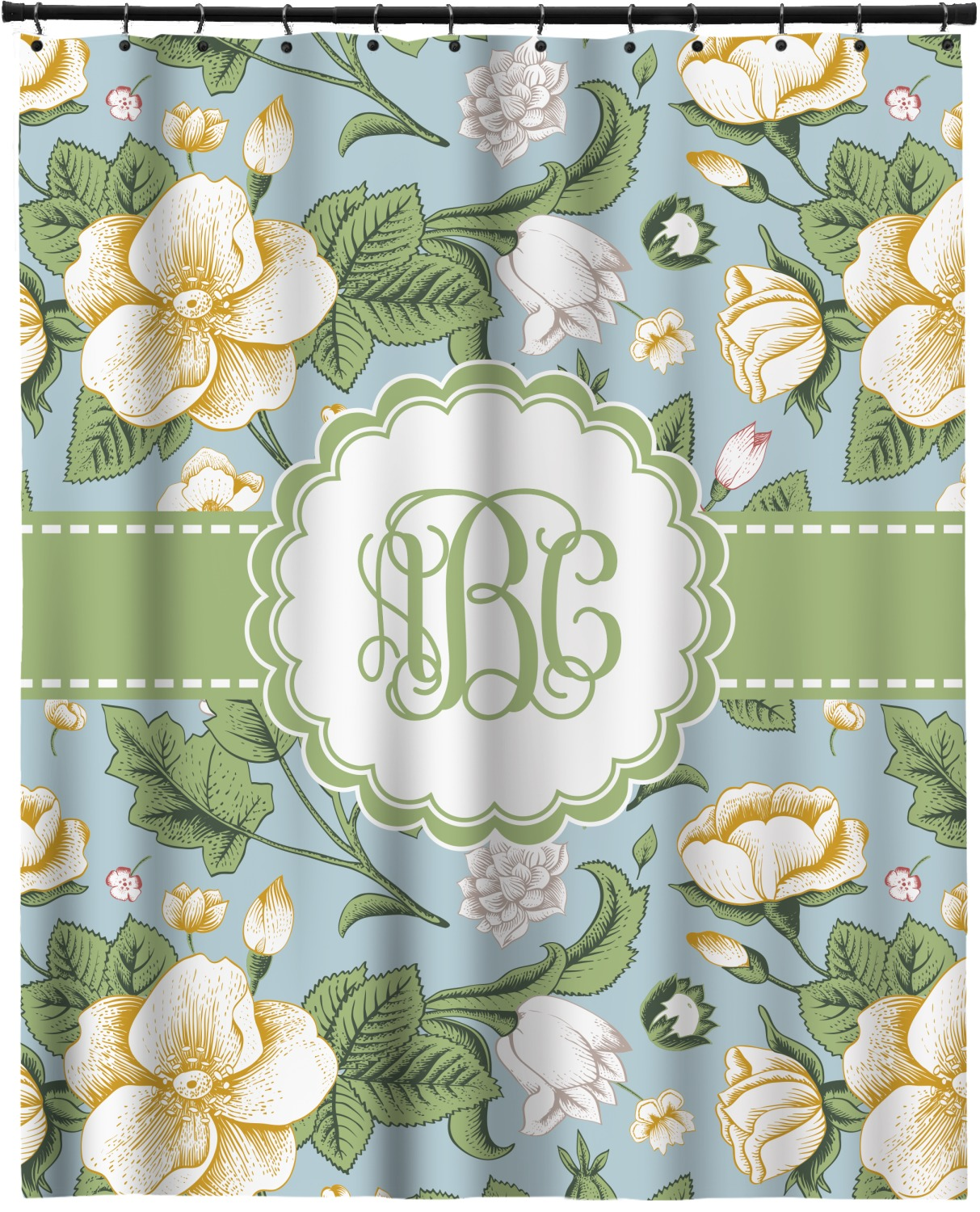 Vintage Floral Extra Long Shower Curtain