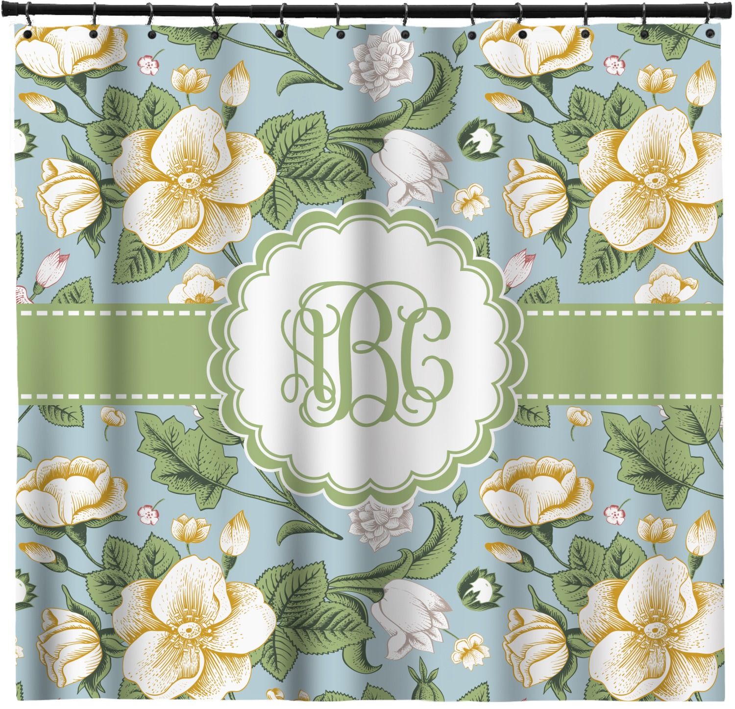 Vintage Floral Shower Curtain (Personalized)