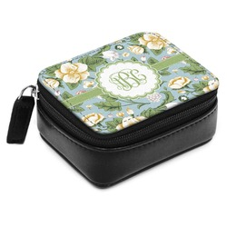Vintage Floral Small Leatherette Travel Pill Case (Personalized)