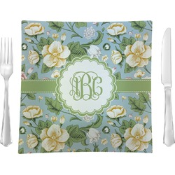 Vintage Floral Square Dinner Plate (Personalized)
