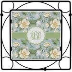 Vintage Floral Square Trivet (Personalized)