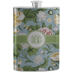 Vintage Floral Stainless Steel Flask (Personalized)