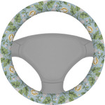 Vintage Floral Steering Wheel Cover (Personalized)
