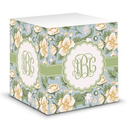 Vintage Floral Sticky Note Cube (Personalized)