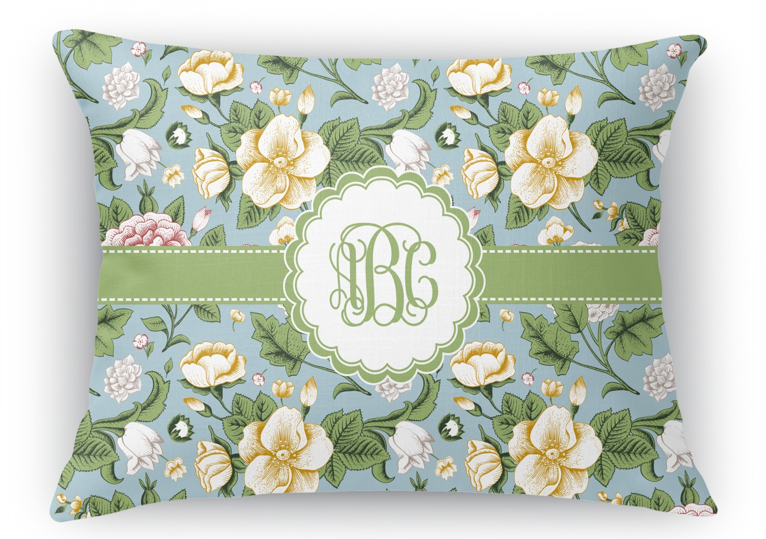 Vintage Floral Rectangular Throw Pillow - 18