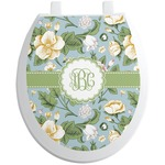 Vintage Floral Toilet Seat Decal (Personalized)