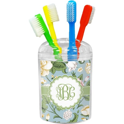 Vintage Floral Toothbrush Holder (Personalized)