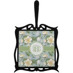 Vintage Floral Trivet with Handle (Personalized)
