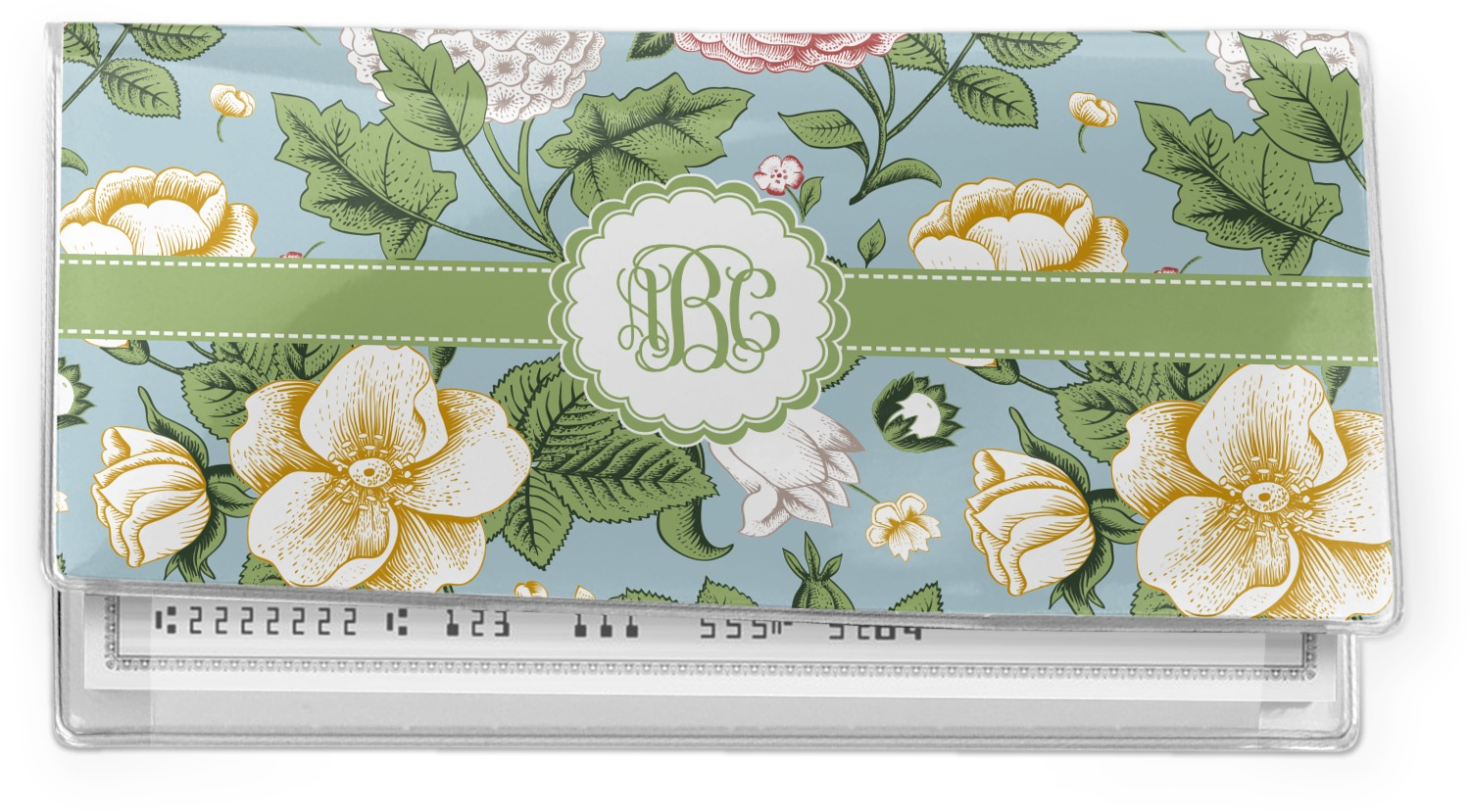 Vintage Flower Book Cover : Vintage floral vinyl check book cover personalized