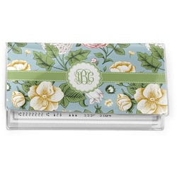 Vintage Floral Vinyl Check Book Cover (Personalized)