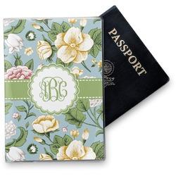 Vintage Floral Vinyl Passport Holder (Personalized)