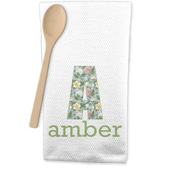 Vintage Floral Waffle Weave Kitchen Towel (Personalized)