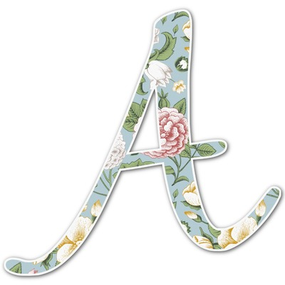 Vintage Floral Letter Decal - Custom Sizes (Personalized)