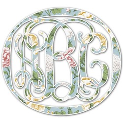 Vintage Floral Monogram Decal - Custom Sized (Personalized)