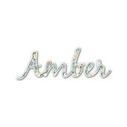 Vintage Floral Name/Text Decal - Custom Sized (Personalized)