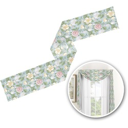 Vintage Floral Window Sheer Scarf Valance (Personalized)