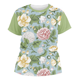 Vintage Floral Women's Crew T-Shirt (Personalized)