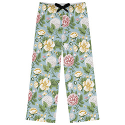 Vintage Floral Womens Pajama Pants (Personalized)