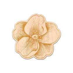 Vintage Floral Genuine Wood Sticker (Personalized)